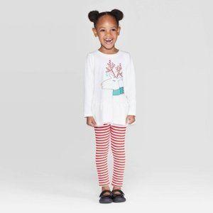 Cat & Jack™ White/Red Toddler Girls' 2 Pc Set
